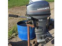 20 HP Mariner Two Stroke Short Shaft Engine