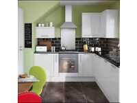 Slab White Gloss Kitchen £895 Complete
