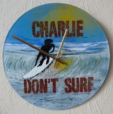 Apocalypse Now record wall clock .charlie dont surf .surfing,