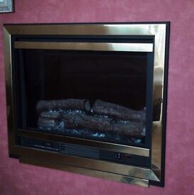 Burley Drayton 211 Brass Finish Inset Wall Mounted Electric Fire Collect SA48 8JZ - REDUCED!!