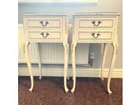 French Rococo style nightstands (pair)