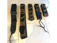Fender Guitar Strap Bundle – 5x New Straps – Postage Available
