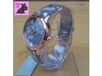 Radley RY2068 Ladies 'Circus Print' Taupe Leather Strap Watch – NEW - RRP £80