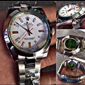 ROLEX MILGAUSS Green Glass 116400 GV Stainless Steel Mens 40mm Watch