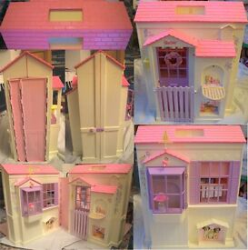 Barbie House, Horse Box and Car, Horses, Dolls and Clothes and Accessories Toy Collection