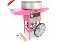 Brand New Candy Floss Machine and Cart For Sale!