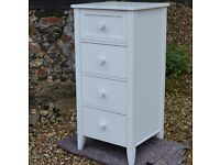 WHITE CHEST OF DRAWER HEART TALL BOY UNIT GIRLS BEDROOM SHABBY FRENCH CHIC NEXT