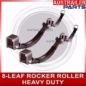 8 LEAF ROCKER ROLLER TANDEM TRAILER SPRINGS.( 3500 KG RATED) TRAILER PARTS