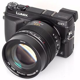Panasonic Lumix DMC-GX7K with the Lumix 42.5 F1.7 ASPH lens