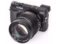 Panasonic Lumix DMC-GX7K with the Lumix 42.5 F1.7 ASPH lens