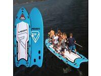 Paddle board up to 6 paddlers - SUP KAYAK MEGA SUP paddleboard for HIRE - kayak available