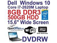 Windows 10 Dell Latitude E6430 Core i7 Laptop - 8GB DDR3 - 500GB - DVDRW - Wi-Fi