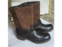Boots - Clarks brown leather and suede