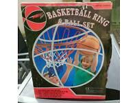 Basketball & Basketball Hoop Set - Brand New