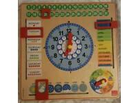 Goula calander wall clock - kids
