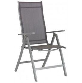 Steel Multi Position Recliner Garden Chair