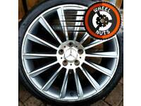 """##CHEAP## 19"""" AMG Twist style staggered alloys 2excellent tyres."""