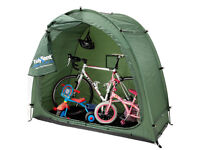 Outdoor storage tent for bikes