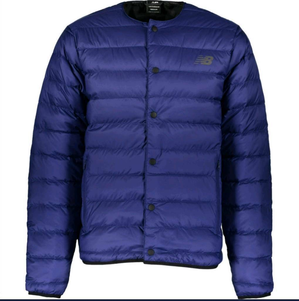 5d051ce703c26 NEW BALANCE Blue Down Padded Jacket rrp £140 size L and S | in ...