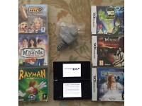 Black Nintendo DSi Console and 6 games