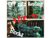 Kindling, blocks and off cuts