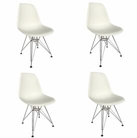 PREMIUM Quality 4 X Eames Eiffel style DSR Lounge Dining Chairs