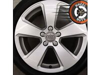"17"" Genuine Audi A3 Sport alloys Golf Caddy Leon excel cond premium tyres"