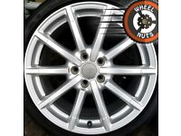 """18"""" Genuine Audi A3 S Line alloys Golf Caddy Leon excel cond excel tyres."""
