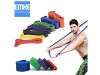 THE FULL WORKS - 5 Heavy Duty Resistance Bands for Home Workouts FOR ALL LIFTERS, FREE WORKOUT PLAN