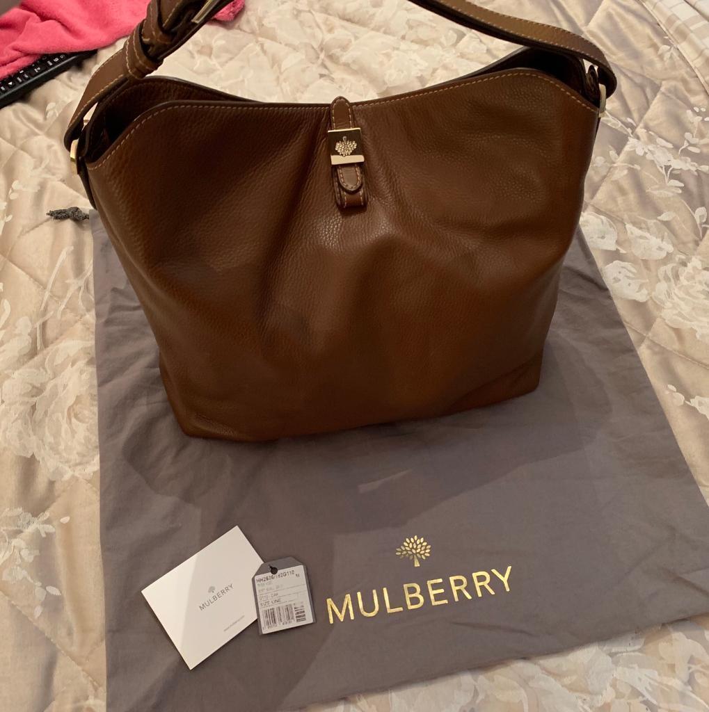 7760a51bd5 Genuine Mulberry Tessie Hobo Oak Soft Small Grain Handbag
