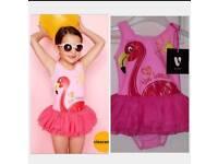 Girls Tutu Flamingo Swimsuit From Very