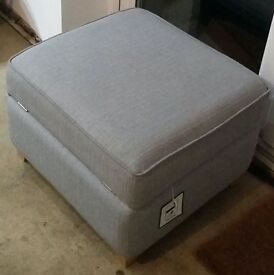 DFS footstool with storage compartment