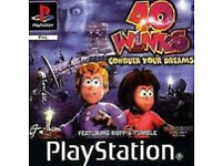 PLAYSTATION1 PS1 GAME 40 WINKS: CONQUER YOUR DREAMS
