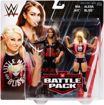 Alexa Bliss   Nia Jax Battle Pack 54 Wwe Mattel Brand New Toys   Mint Packing
