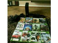 Xbox 360 Slim 250Gb with Kinnect and 12 top rated games including Kinnect games