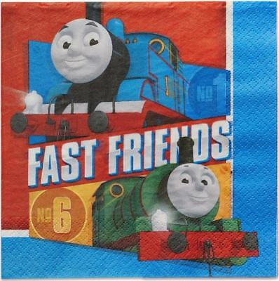 Thomas All Aboard Lunch Dinner Napkins 16 Count Birthday Party Supplies New