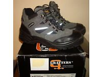 GRAFTERS SAFETY BOOTS SIZE 6 Mens or womens - unisex EXCELLENT CONDITION