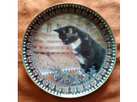 """LESLEY ANNE IVORY CAT PLATE """"MOTLEY"""""""