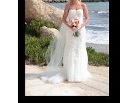 Rosetta Nicolini Francine Wedding dress, Ivory lace & pearl design