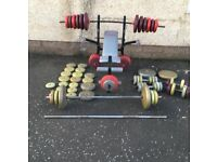Weight bench / multi gym and weights