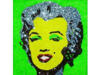 Marilyn Monroe Artwork in Warhol style (made from glitter) completely original