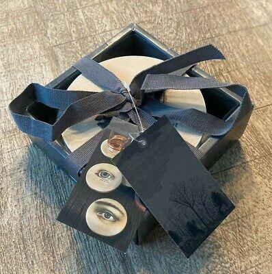 NEW 4pc Mysterious Gaze Ceramic Eyes Coaster Set - John Derian Threshold Target