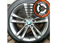 """18"""" Genuine BMW Sport 1 series alloys staggered excel cond match tyres."""