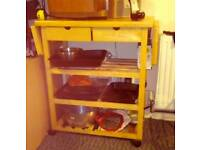 Kitchen organiser, coffee table and tv stand