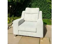 Grey Armchair from Fabb Sofas RRP 759 Brand New Living Room Furniture