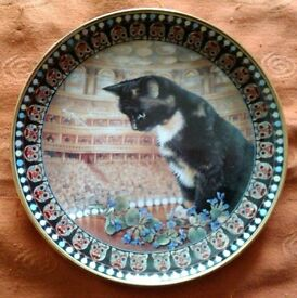 "LESLEY ANNE IVORY CAT PLATE ""MOTLEY"""
