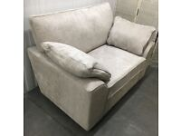 Next Stamford Glamour Weave Mist silver grey 2-seater love seat snuggler RRP£799
