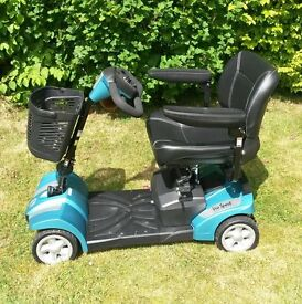 Mobility scooter, never used, excellent condition, teal blue, reduced to £495 open to offers