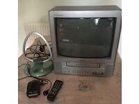 "Toshiba 14"" Portable TV/VCR with Extras"
