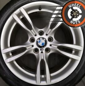 """18"""" Genuine BMW 3 series M Sport alloys staggered excel cond excel tyres."""